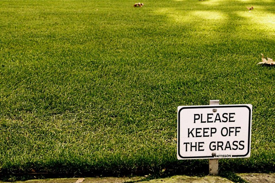 Keep-off-the-grass