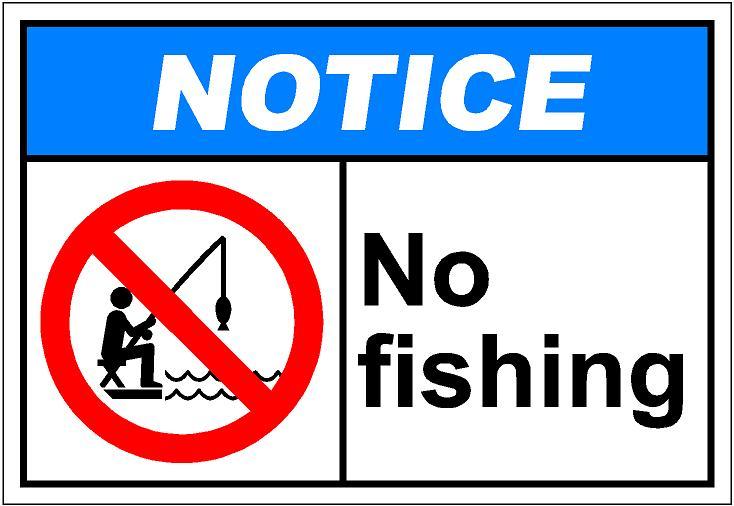 notiH124 - no fishing